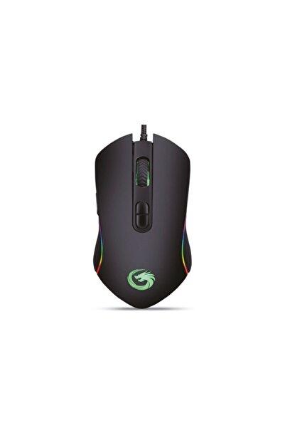 TKZ Lunatic Hawk Siyah 6400dpi Rgb Ledli Makrolu Gaming Oyuncu Mouse Drag Click