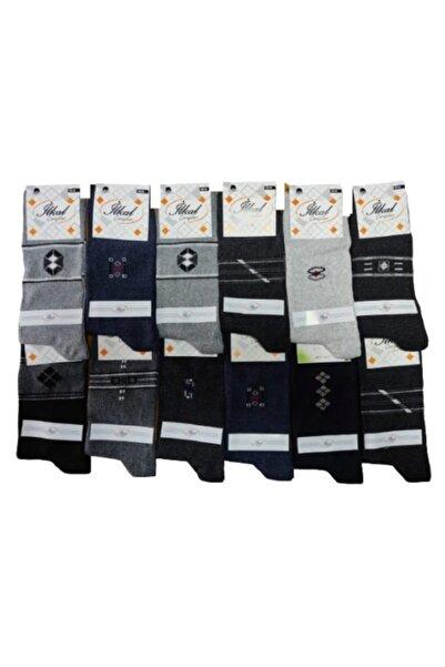 Çorap Dünyası Erkek Karışık Renk Ve Desen Pamuk 12'li Soket Çorap