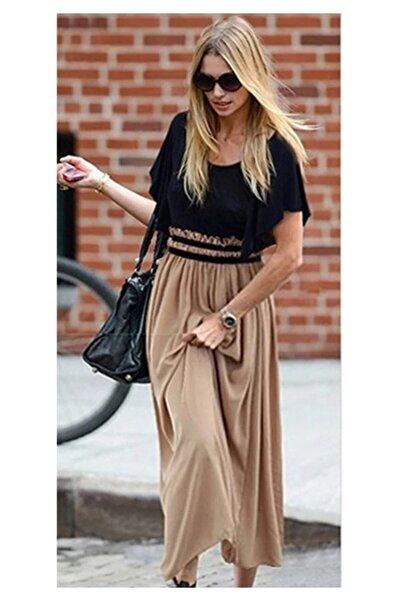 ELBİSENN Yeni Model Kadın Beli Gipeli Şifon Etekli Elbise