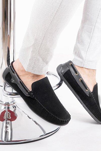 zincirport Erkek Siyah Süet Loafer Ayakkabı