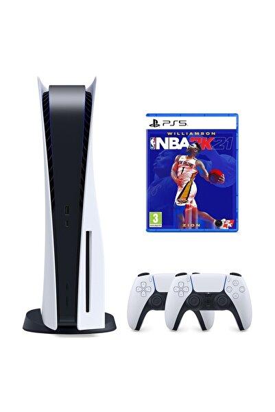Sony Playstation 5 825 GB + 2. PS5 DualSense + PS5 NBA 2K21