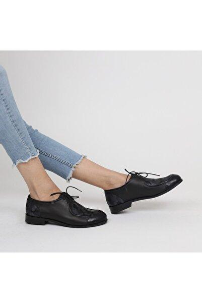 Lo Mejor Shoes Kadın Siyah Bumblebee Deri Özel Tasarım Ayakkabı