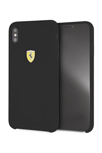 Ferrari iPhone XS Max Siyah Silikon Kılıf