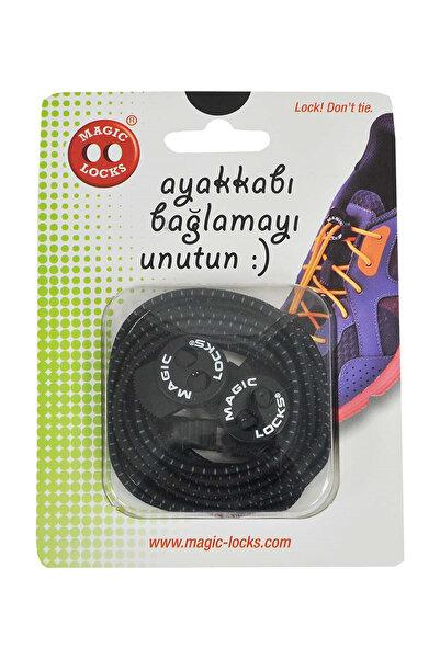 Nike Magic Locks Siyah Elastik Ayakkabı Bağcığı