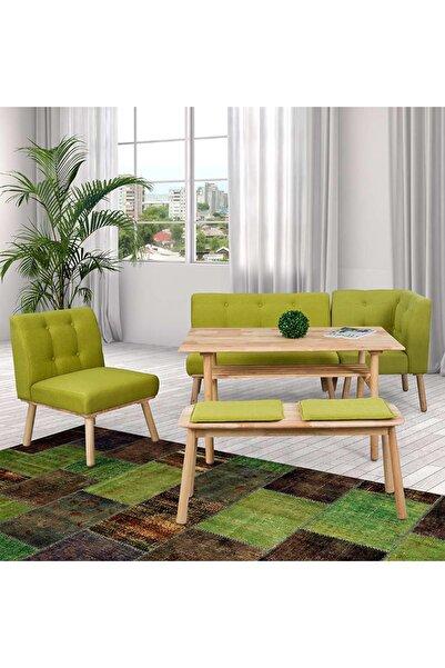 Vitale Corner Yeşil Masa Sandalye Seti MS.KOSE0001