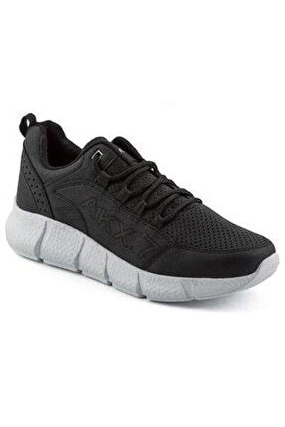 021 Siyah Beyaz Erkek Spor Ayakkabı