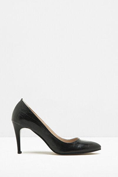 Koton Kadın Siyah Klasik Topuklu Ayakkabı 7KAK20678AA