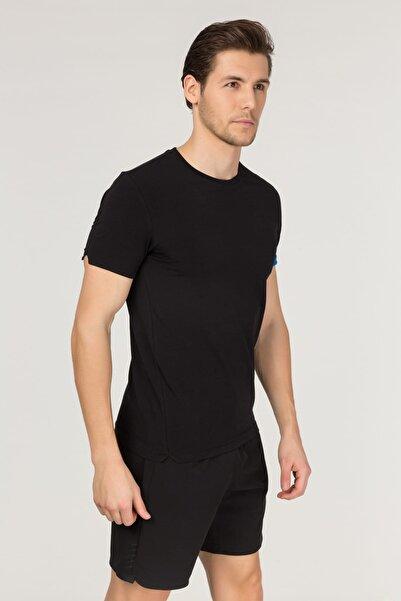 bilcee Siyah Pamuklu Erkek T-Shirt FS-1630