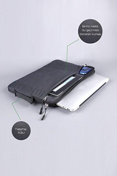 Polina Clue Macbook Pro 15.6 & 16 Inç Darbeye Karşı Korumalı Su Geçirmez Laptop Kılıfı. Füme