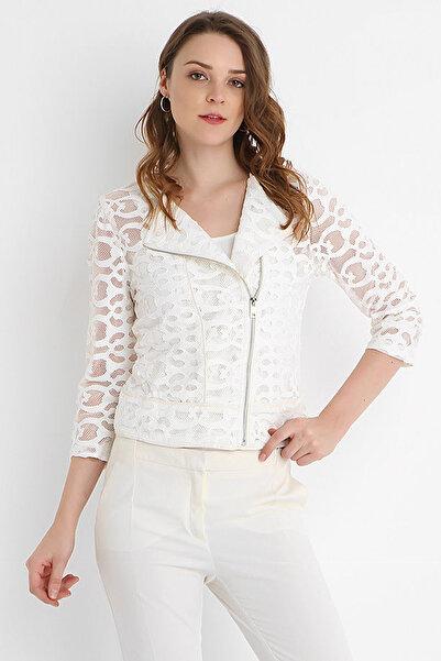 SERPİL Kadın Beyaz Ceket 15Y1121819