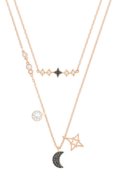 Swarovski Kadın Kolye Duo:Necklace Moon Set Dmul/Mix 5273290