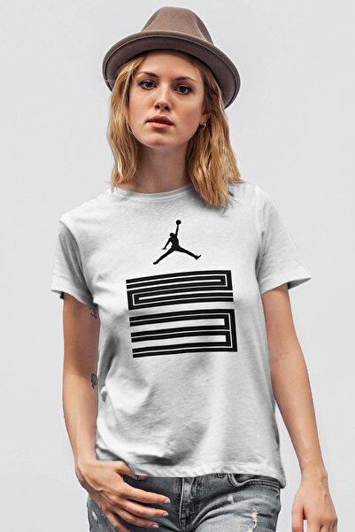 Tonny Mood Air Jordan 11 Beyaz Nba Kadın Tshirt - Tişört