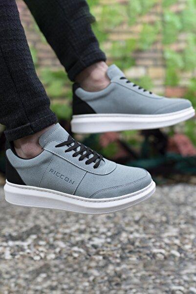 Riccon Erkek Turkuaz Siyah Sneaker 0012m10