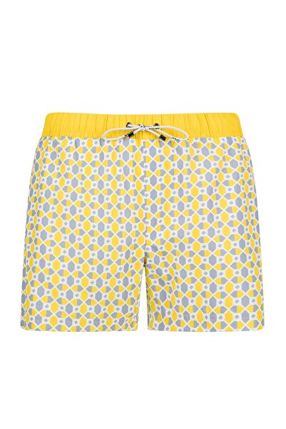 Hemington Erkek Sarı Desenli Quick Dry Şort Mayo