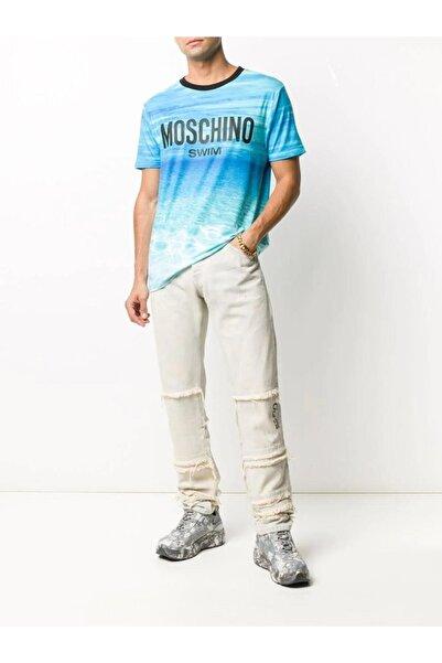 Moschino Erkek Mavi TShirt A1901 2322 1888