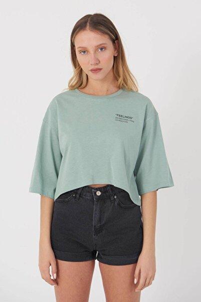 Addax Yazı Detaylı T-shirt B114 - J4