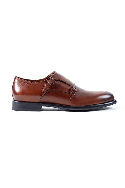Hemington Erkek Tokalı El Yapımı Taba Deri Ayakkabı
