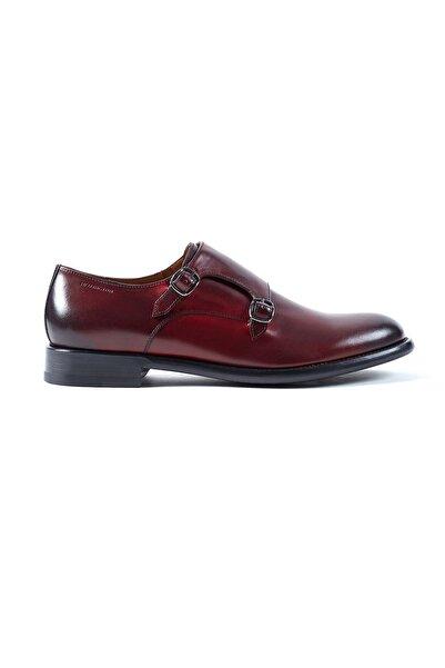 Hemington Erkek Tokalı El Yapımı Bordo Deri Ayakkabı