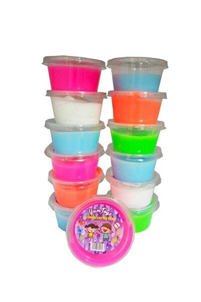 Erbek Plastik Slime Oyun Jeli Yumtoys Kutu Polymer Slime Eğitici Oyun Seti 6 Adet 80 gr