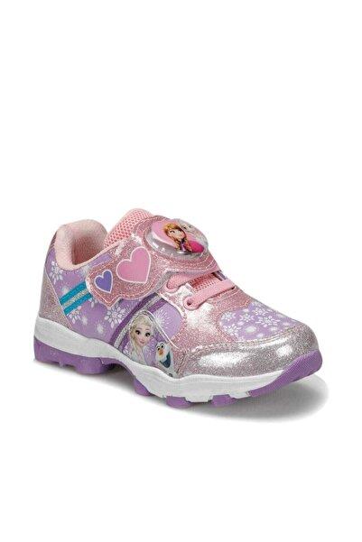 Frozen 92.helya-2.p Pembe Kız Çocuk Spor Işıklı Ayakkabı