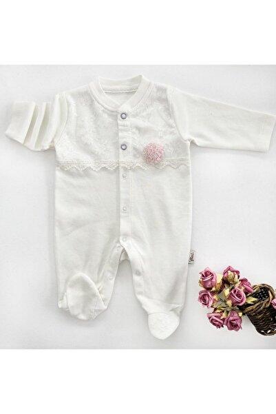 Flexi Kız Bebek Dantelli Tulum