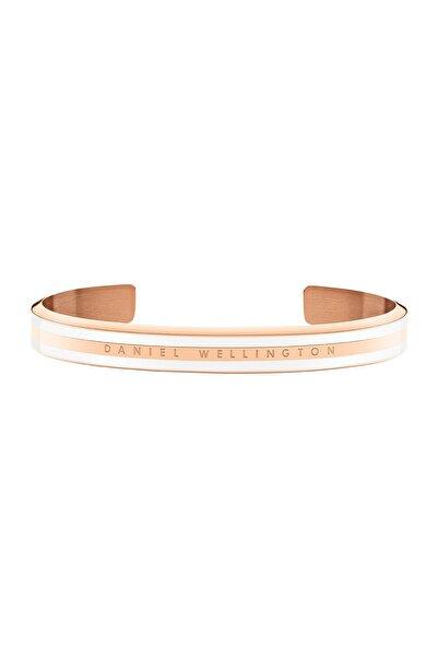 Daniel Wellington Classic Slim Bracelet Rose Gold Satin White Small - Kadın için