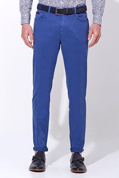 Hemington Erkek Mavi Slim Fit Spor 5 Cep Pantolon