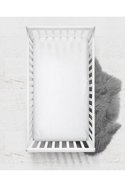 MERTİM Süprem Penye Lastikli Bebek Çarşafı-beyaz 70 X 130