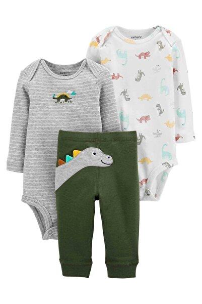 Carter's Erkek Bebek Dinozor Desenli 3'lü Set
