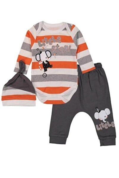Miniworld Çizgili Filli Erkek Bebek 3 Lü Takım