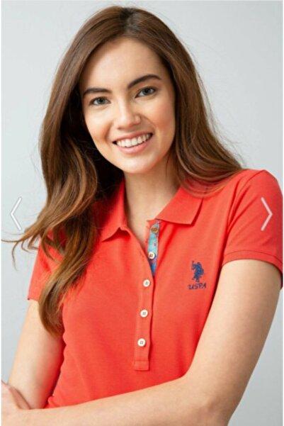 U.S. Polo Assn. Kadin   Nar Çiçeği T-shirt G082sz011.000.734021