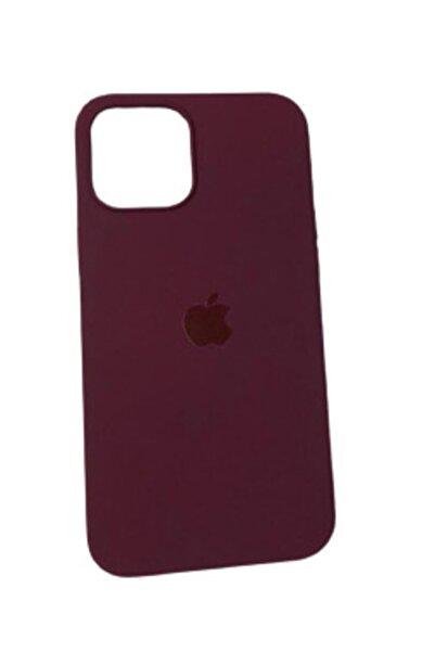 Pirok Store Iphone 12 Pro Max 6.7 Vişne Çürüğü Lansman Içi Kadife Logolu Silikon Kılıf