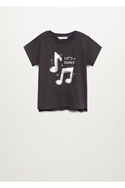 MANGO Kids Pullu Baskılı Tişört