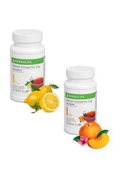 Herbalife Bitkisel Konsantre Çay 2 Set 50 gr Limon Şeftali