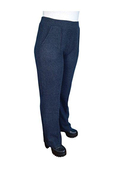 HemaZen Kışlık Beli Lastikli Füme Kaşe Pantolon