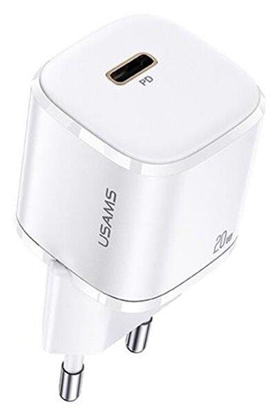 Usams 20w Usb-c Iphone 12, 12 Pro Max Mini Güç Adaptörü Hızlı Şarj Duvar Şarj Cihazı