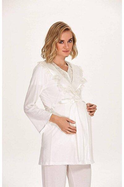 Marilyn Pijama Marilyn 7059 Kadın 3'lü Sabahlıklı Pijama Takım