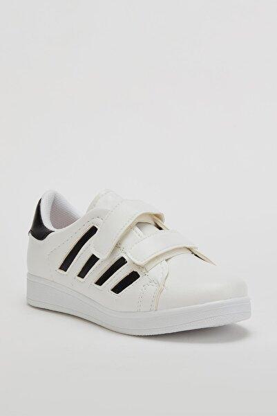 MUGGO Unisex Beyaz Çocuk Ayakkabı