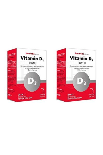 Imuneks Farma Vitamin D3 1000 Iu 2'li Paket