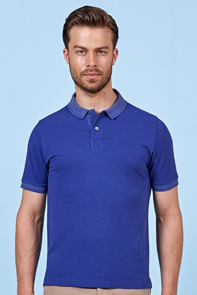 Hemington Mavi Polo Yaka Pamuk T-shirt