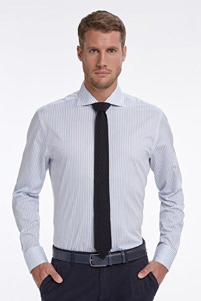 Hemington Mavi Beyaz Çizgili Business Gömlek
