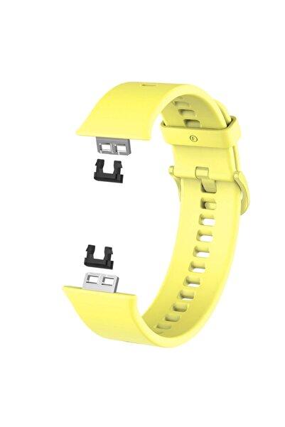 Microsonic Huawei Watch Fit Uyumlu Sarı Silikon Kordon