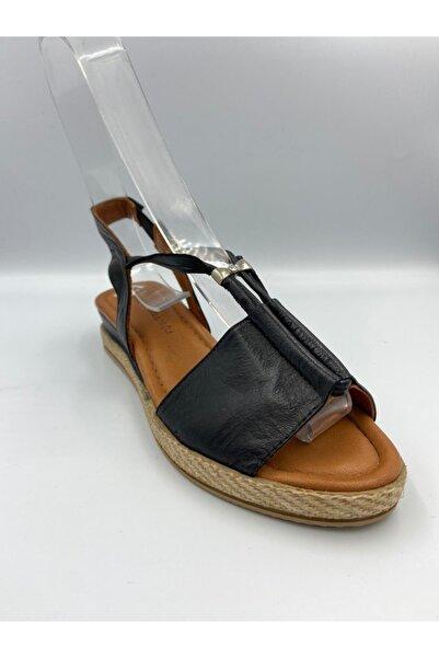 Zeyn Kadın Siyah Sandalet