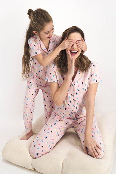 ROLY POLY Kısa Kol Önden Düğme Uzun Pantolon Pijama Takımı