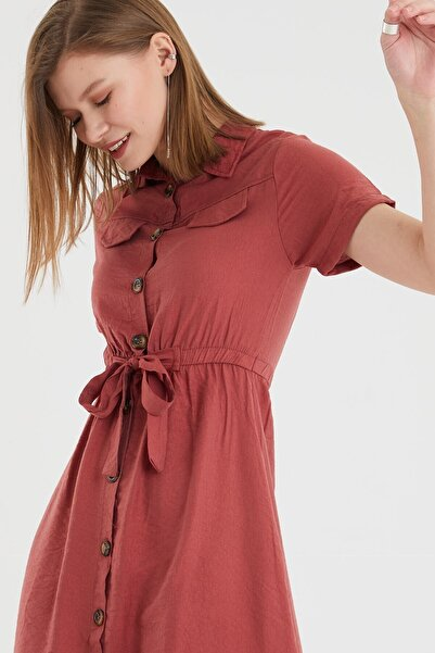 vayro Ayrobin Düğmeli Elbise