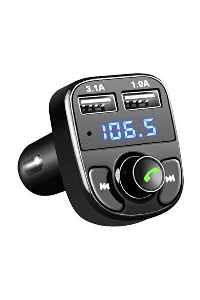 PP Teknoloji Carx8 Araç Fm Transmitter Bluetooth Usb Mp3 Sd Kart Çakmaklık Girişli Oto Müzik Çalar Kiti Kablosuz