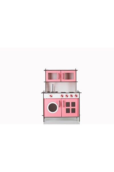 Ahşap Oyuncakların Pembe Küçük Mutfak Seti