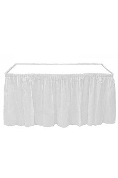 Roll-Up Beyaz Plastik Masa Eteği