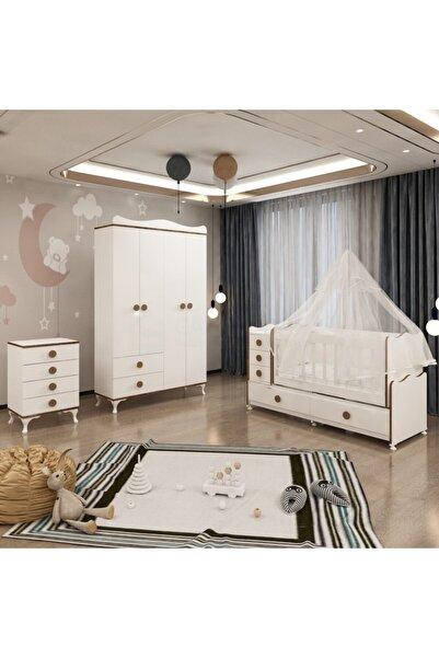 Garaj Home Melina Yıldız 4 Kapaklı Bebek Odası Takımı Sümela- Yatak Ve Uyku Seti Kombinli- Uykuseti Sümela