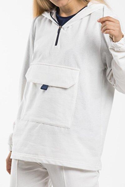 Superlife Kadın Önü Cepli Sweatshirt